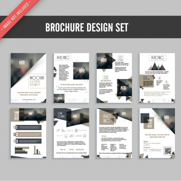Flyer design set Premium Vector