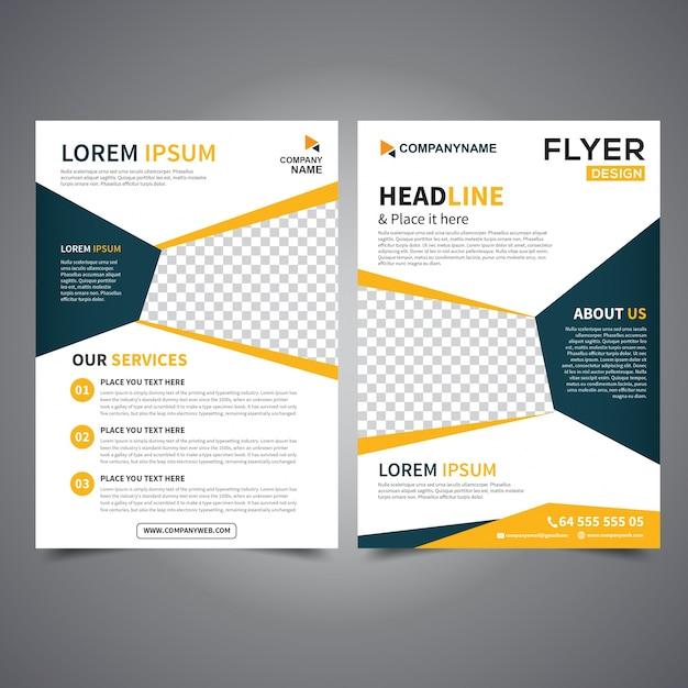 Flyer Design Template Vector Leaflet Design Poster Design Business Flyer Cover Design Layout In A4 Size Premium Vector