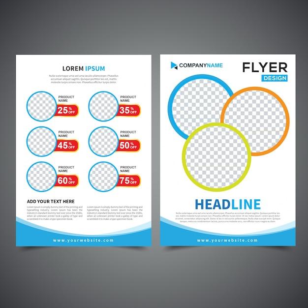 flyer design template vector leaflet design poster design