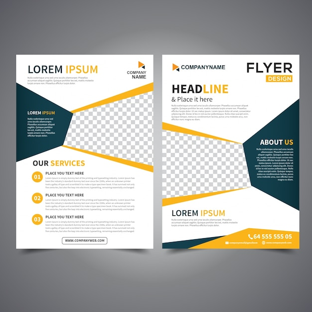 Flyer Design Template Vector Leaflet Design Poster Design