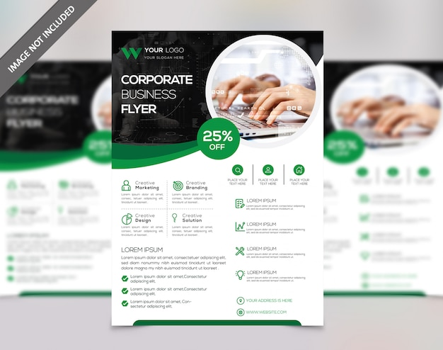 Flyer design Premium Vector