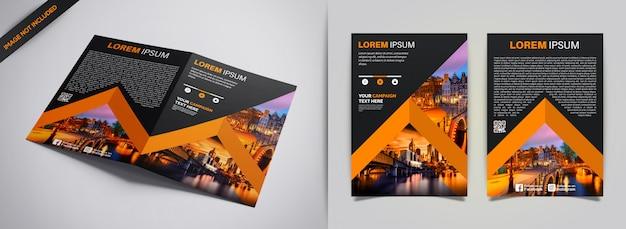Flyer design Premium Vector