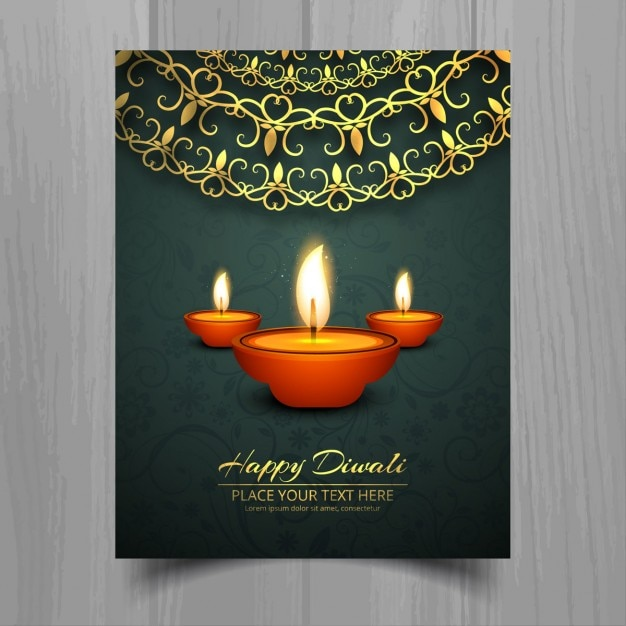 flyer for diwali vector free download