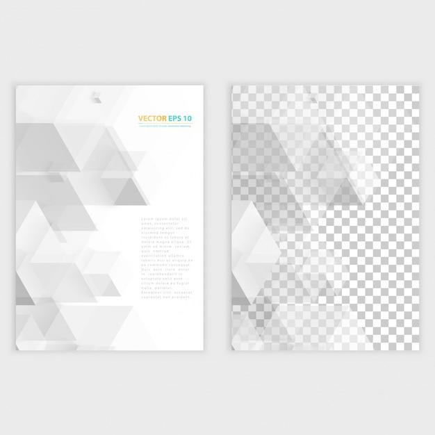 Плакат шаблона flyer и передний дизайн. Бесплатные векторы