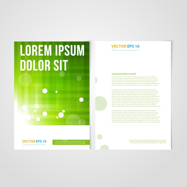 Flyer template back and front design. Vector | Free Download