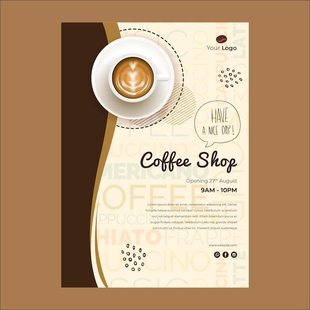 Modello di volantino per caffetteria Vettore gratuito