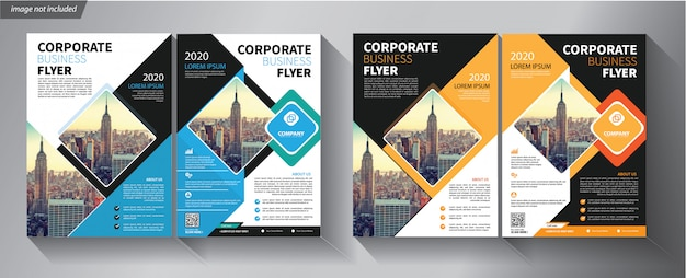 Flyer template for company Premium Vector