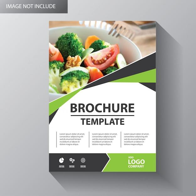 Flyer template design for cover brochure Premium Vector