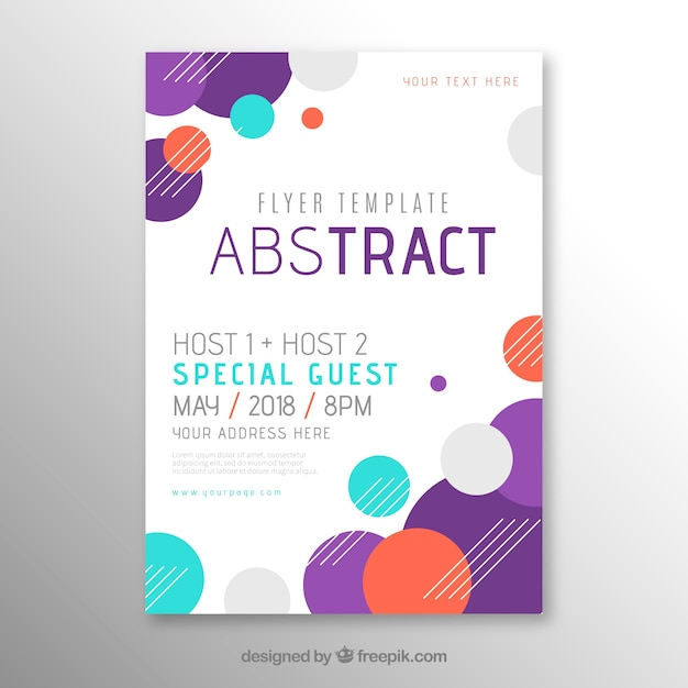 Flyer template in abstract style Free Vector