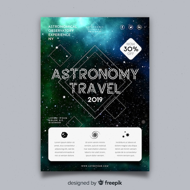 Flyer template for science fair Free Vector