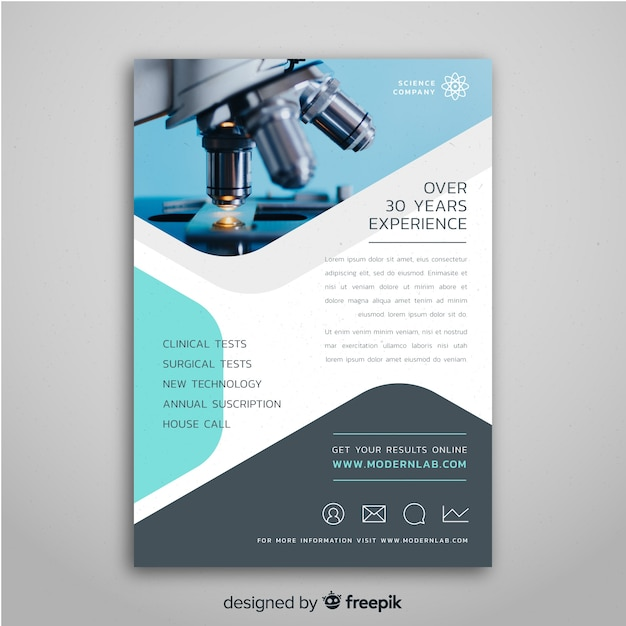 Flyer template for science fair Premium Vector