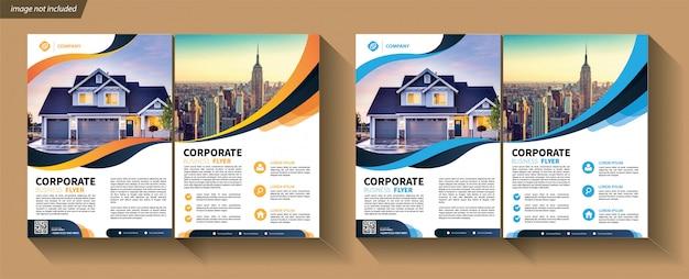 Flyer template set Premium Vector