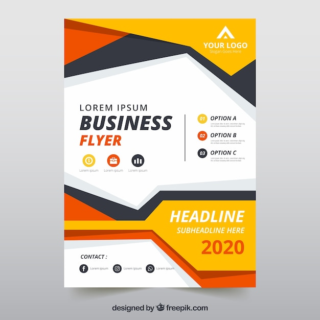 flyer template with business information vector free download