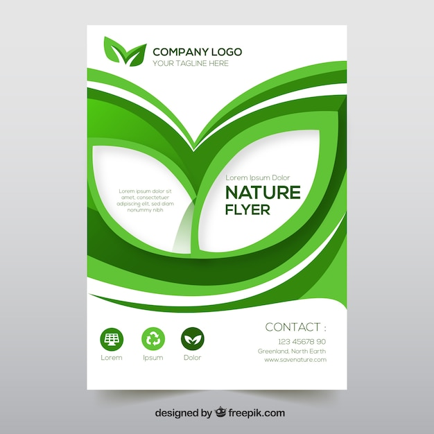 Flyer Template With Nature Information Vector Free Download