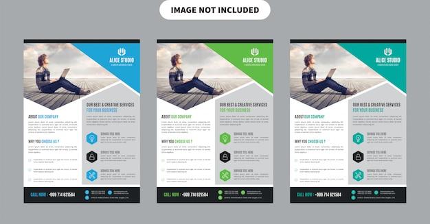 Flyer template Premium Vector