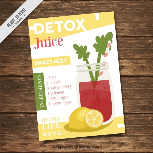 Flyer with a healthy juice recipe