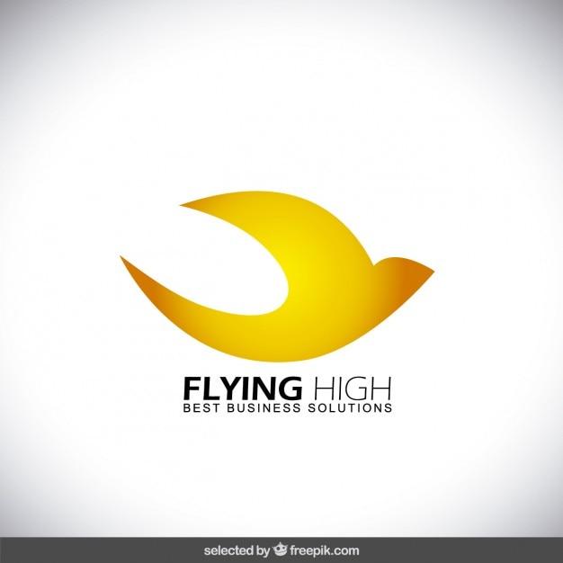 Flying abstract bird logo