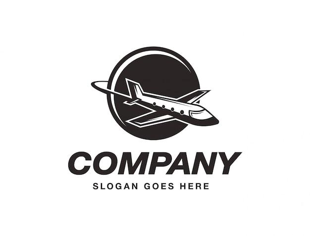 飛行飛行機のロゴ Premiumベクター