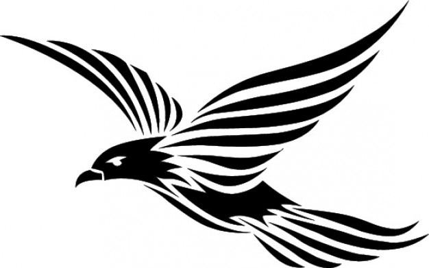 Flying bird tribal design