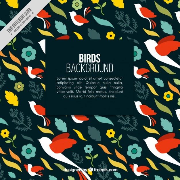 Flying birds pattern