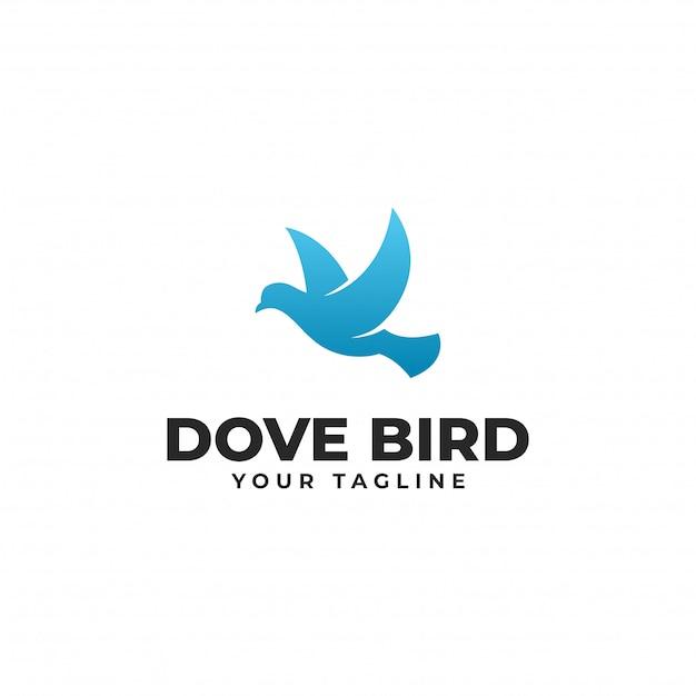 Современный шаблон дизайна логотипа flying dove bird Premium векторы