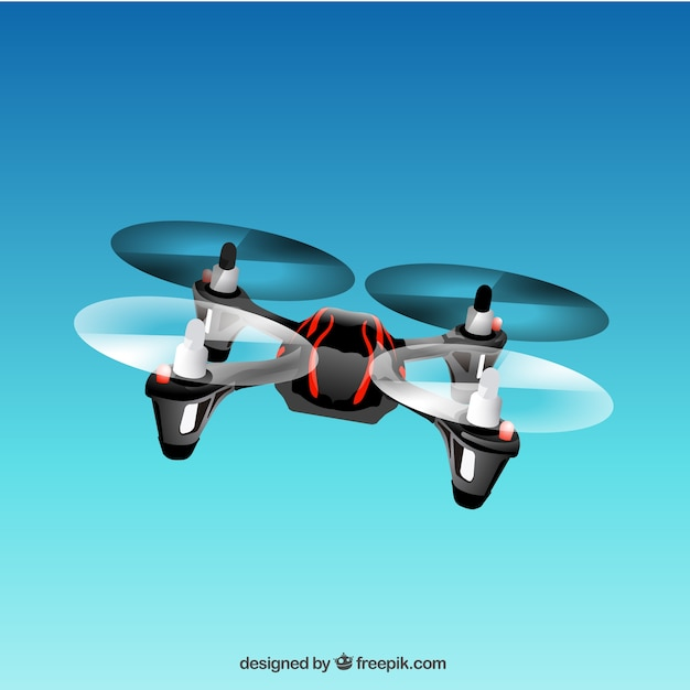 Flying drone Free Vector