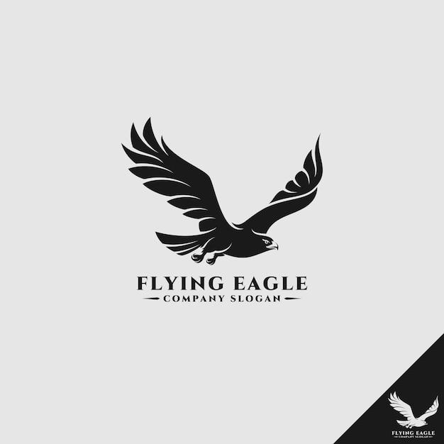 Flying eagle / falcon logo Premium Vector