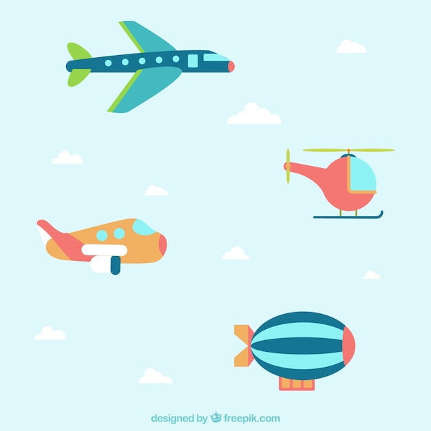 flying planes with banners template vector free download