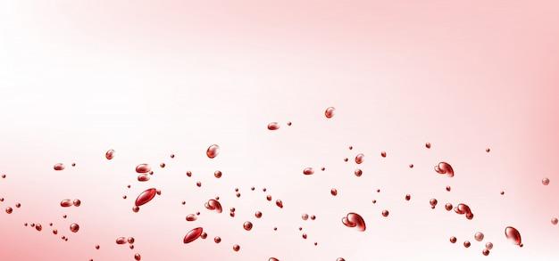 Летающие красные капли крови или вина Бесплатные векторы