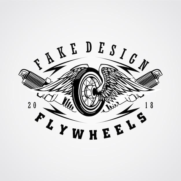 Flywheels engine patch Premium Vector