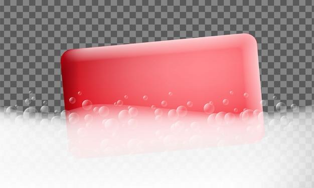 Foam effect banner. realistic illustration of foam effect vector banner for web design Premium Vector