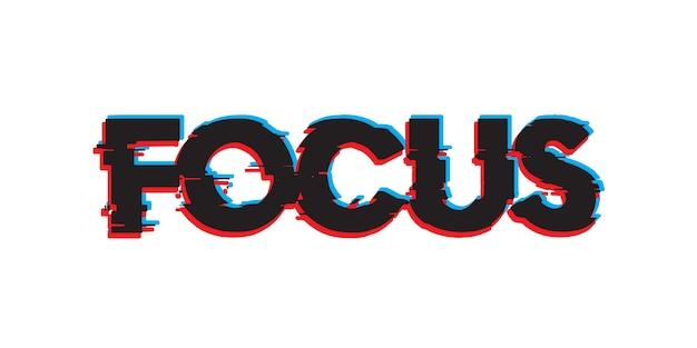 Focus text effect font Premium Vector