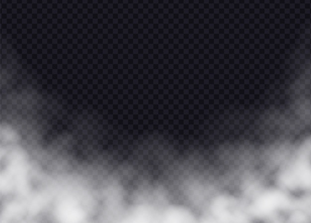 Fog or smoke isolated. realistic smog, haze, mist or cloudiness effect. vector illustration. Premium Vector