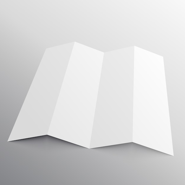 foldable brochure mockup in perspective vector