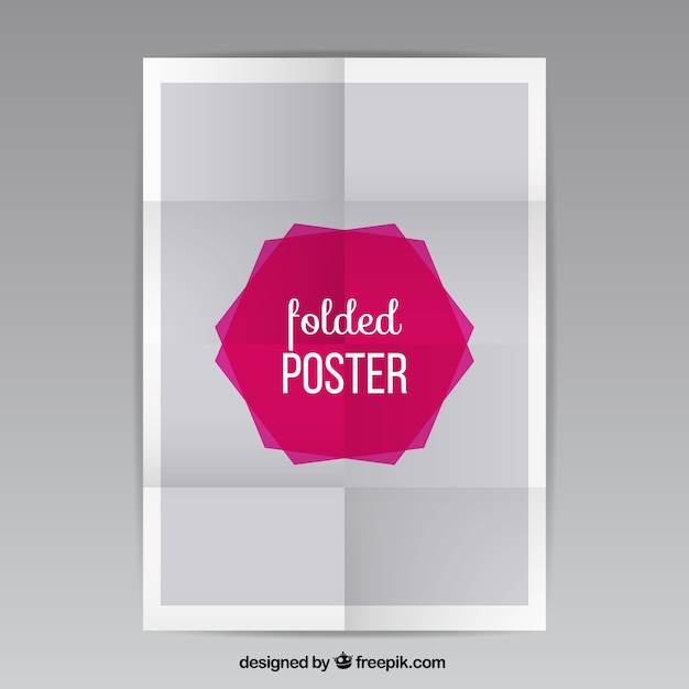 Folded poster Free Vector