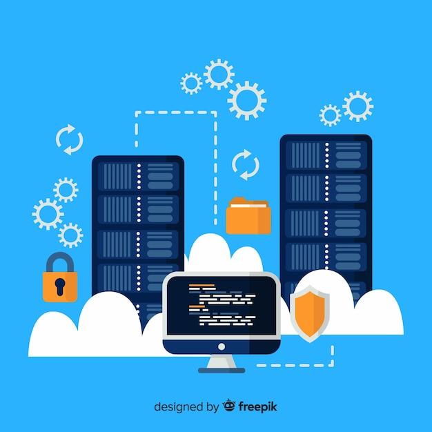 Folder hosting service background Free Vector
