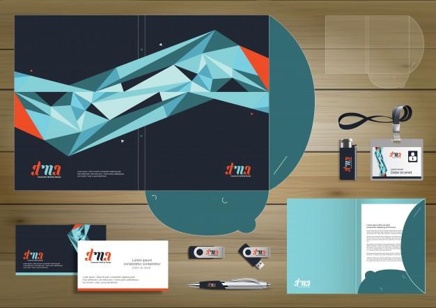 folder template design for digital technology company element of