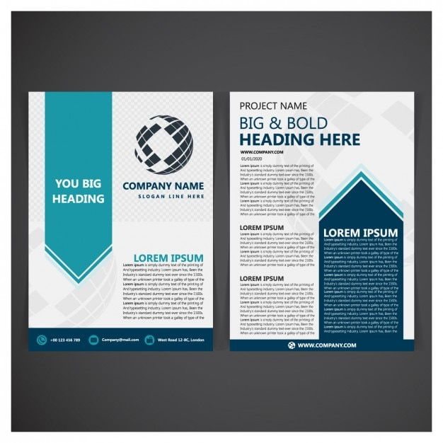 folder template design vector free download