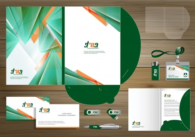folder template for digital technology company. element of, Presentation templates