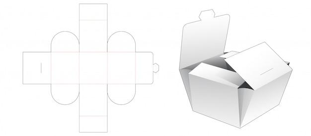 Folding bakery packaging die cut template Premium Vector