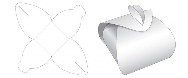 Folding packaging gift box cut template design Premium Vector