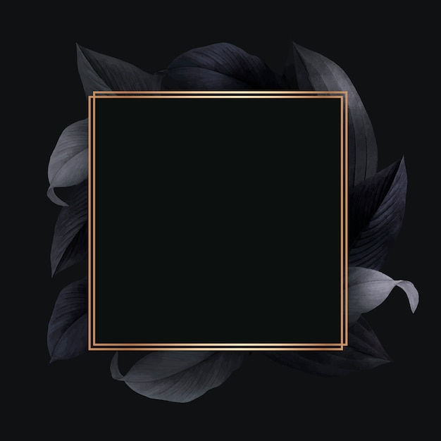 Foliage decorated frame Free Vector