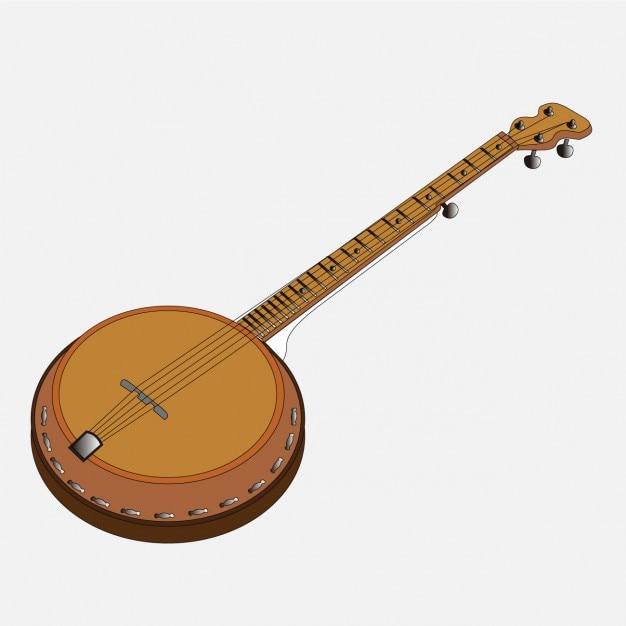 Folk Music Banjo Vector | Free Download