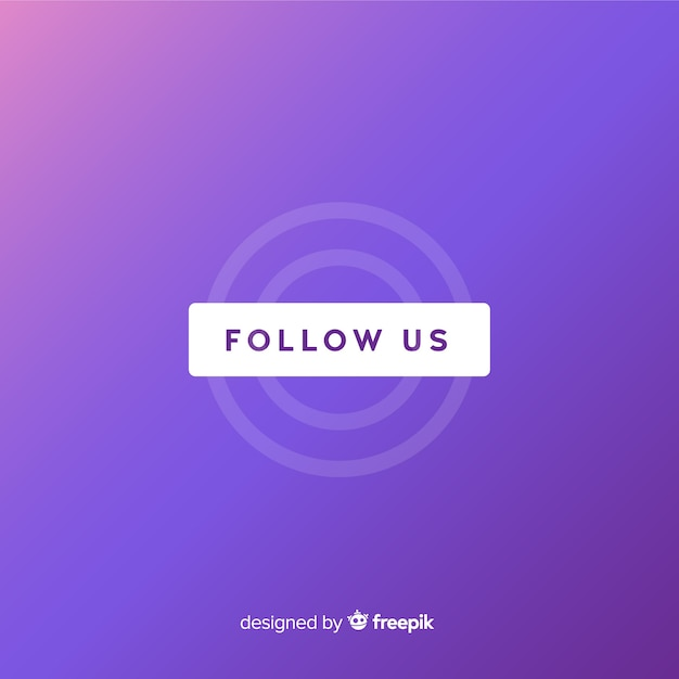 Follow us background Free Vector
