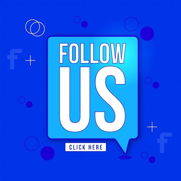 Follow us vector sign design Premium Vector