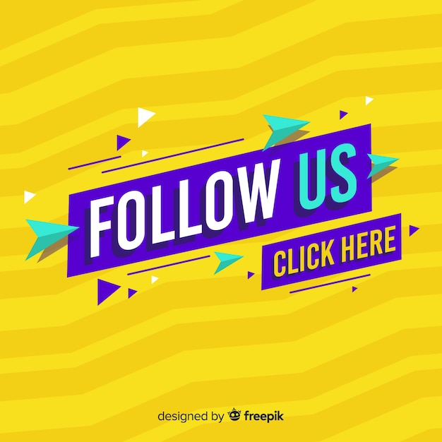 Follow us Free Vector