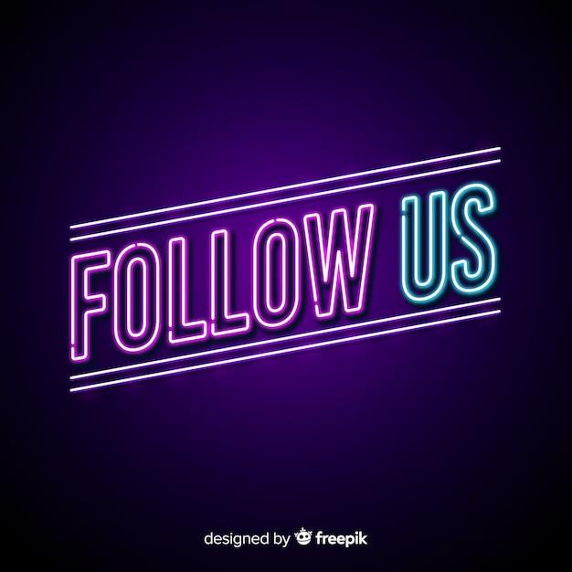 Follow us Free Vector
