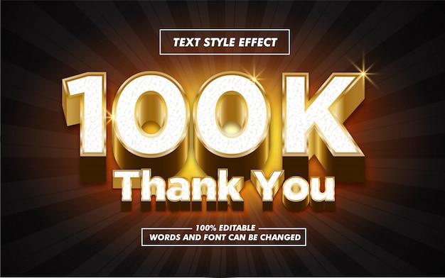 Follower gold text style effect Premium Vector