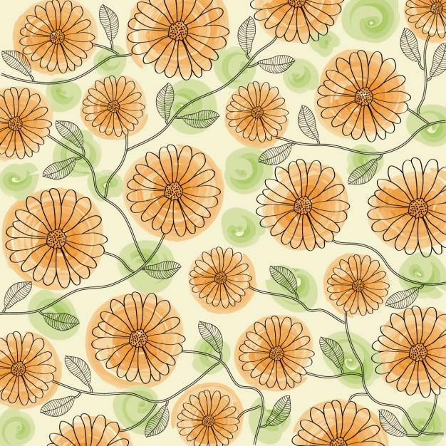 Fondo floral de colores Free Vector