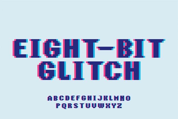 Font retro game typeface style  font typeset alphabet Premium Vector